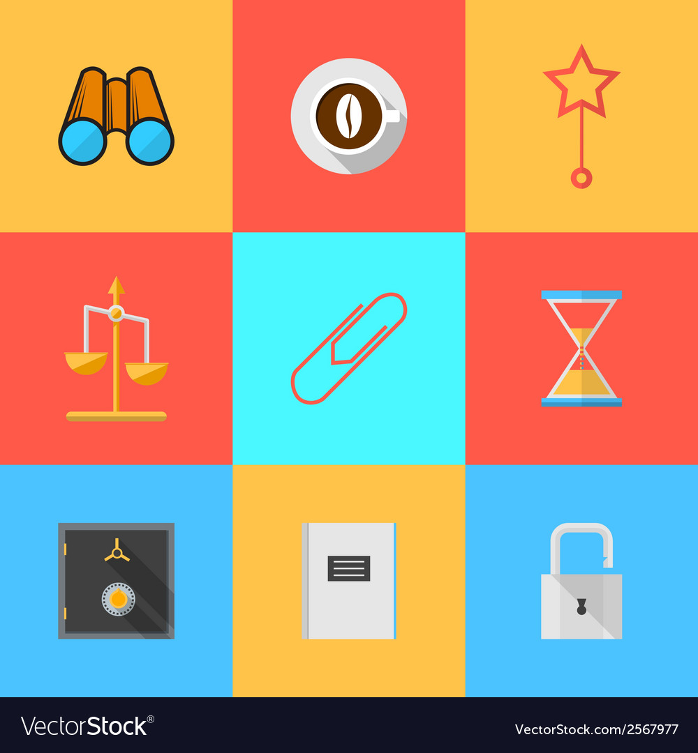 Flat icons for organization of outsourced