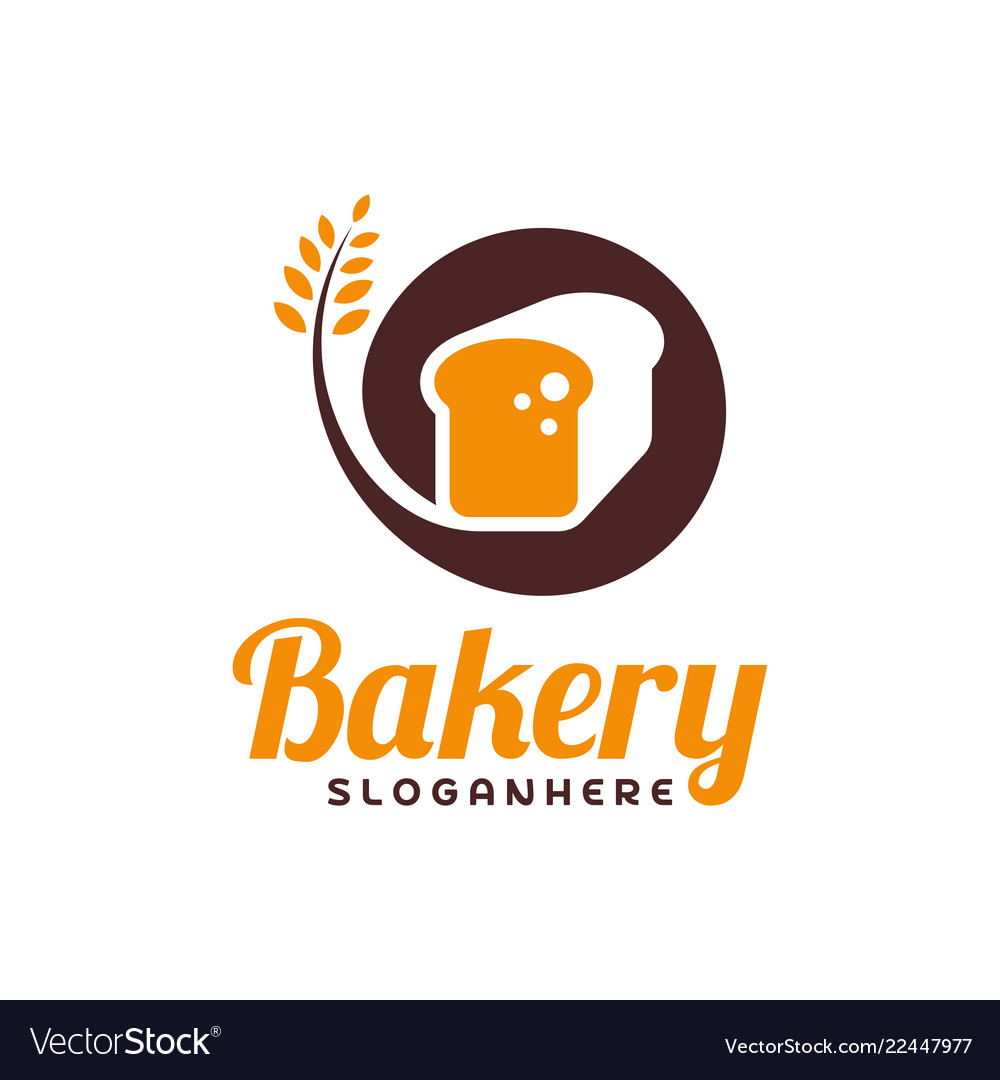 Food bread logo bakery emblem design food logo