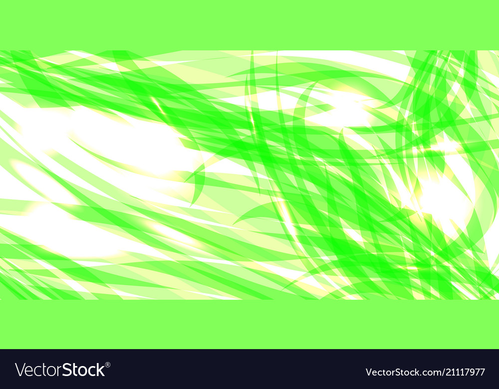 Glowing gently green background of herbal threads