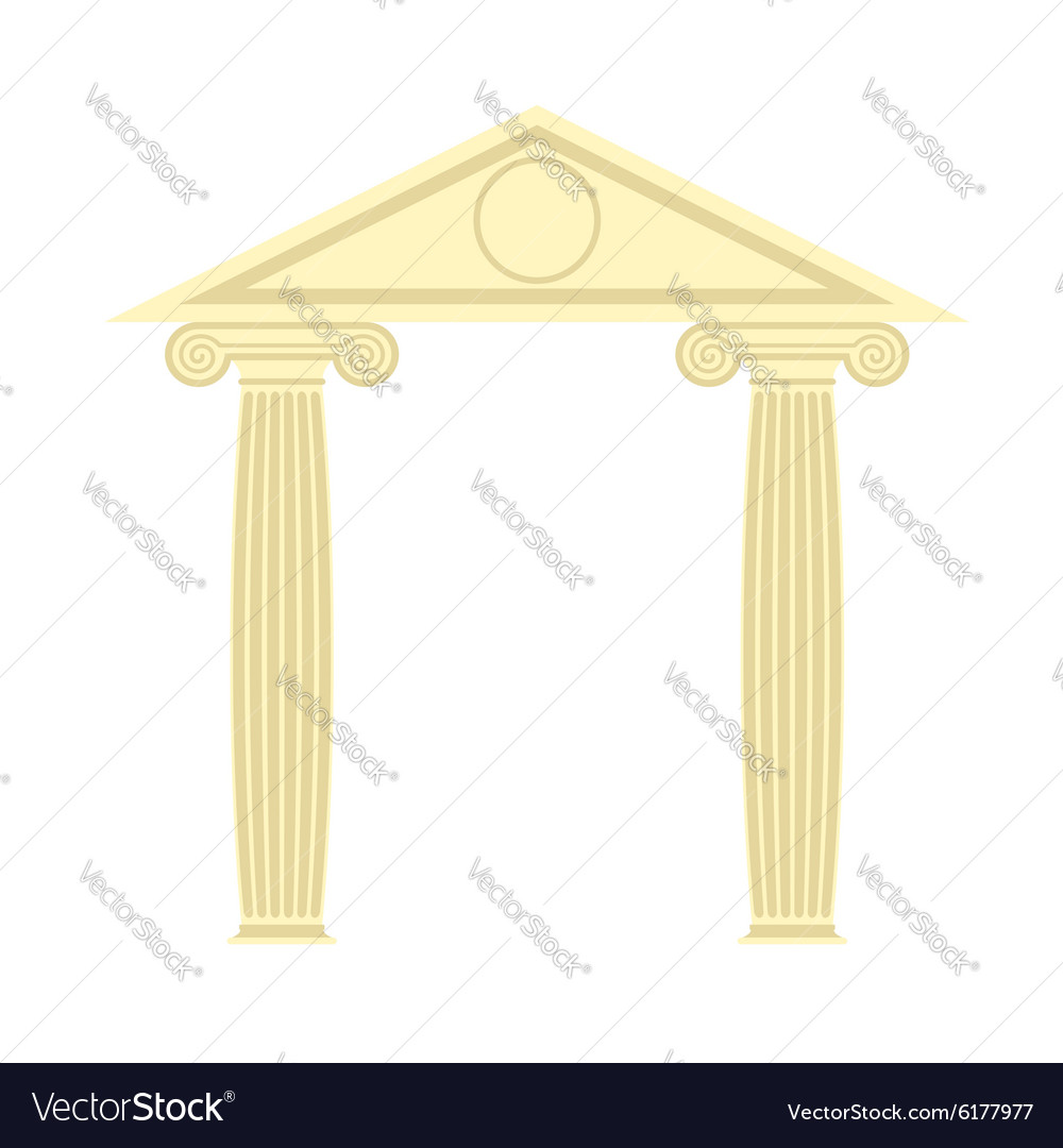 Greek Portico Greek temple Two column and roof
