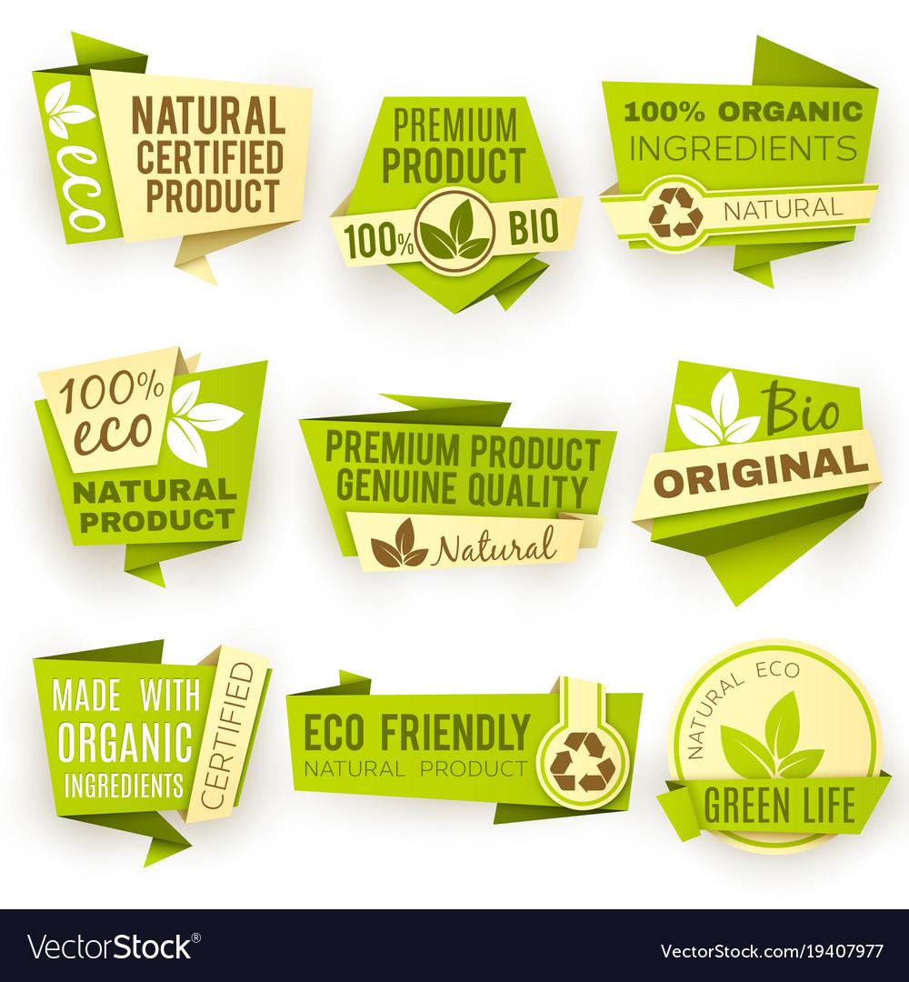 Healthy organic farm fresh product stickers
