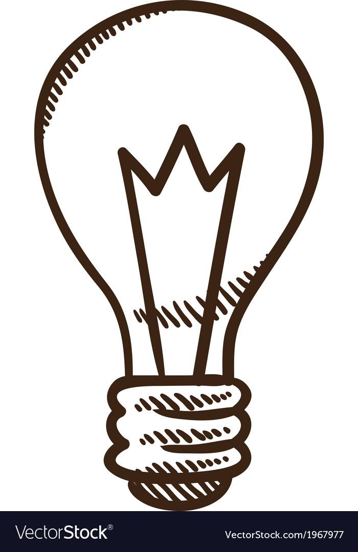 Light Bulb Symbol Royalty Free Vector Image Vectorstock
