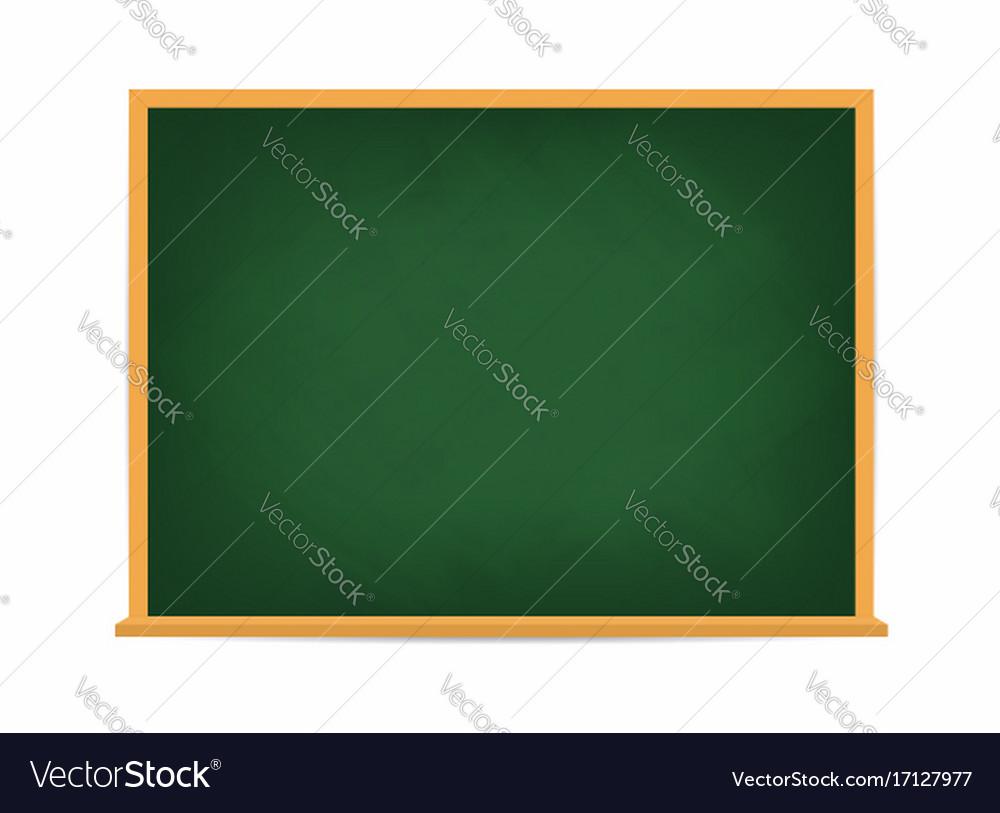 School board green blackboard dirty school board vector image