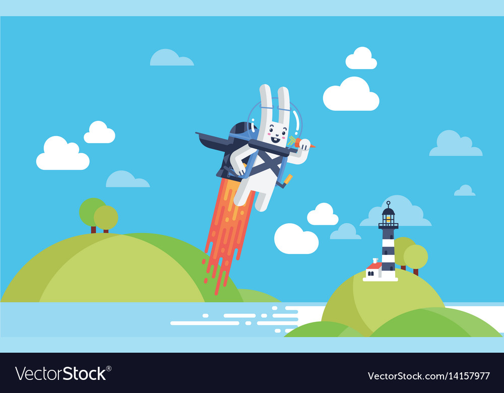 Startup busines and development project concept vector image
