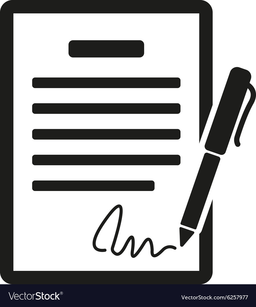 The contract icon Agreement and signature pact vector image