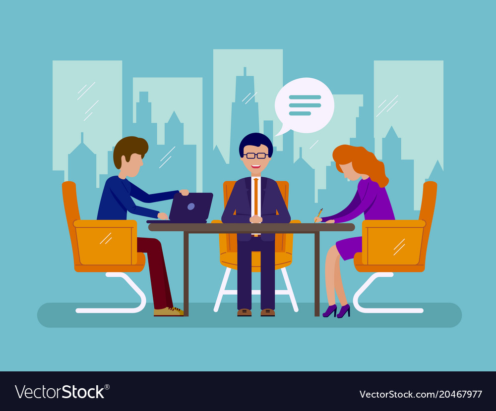 Work in office vector image