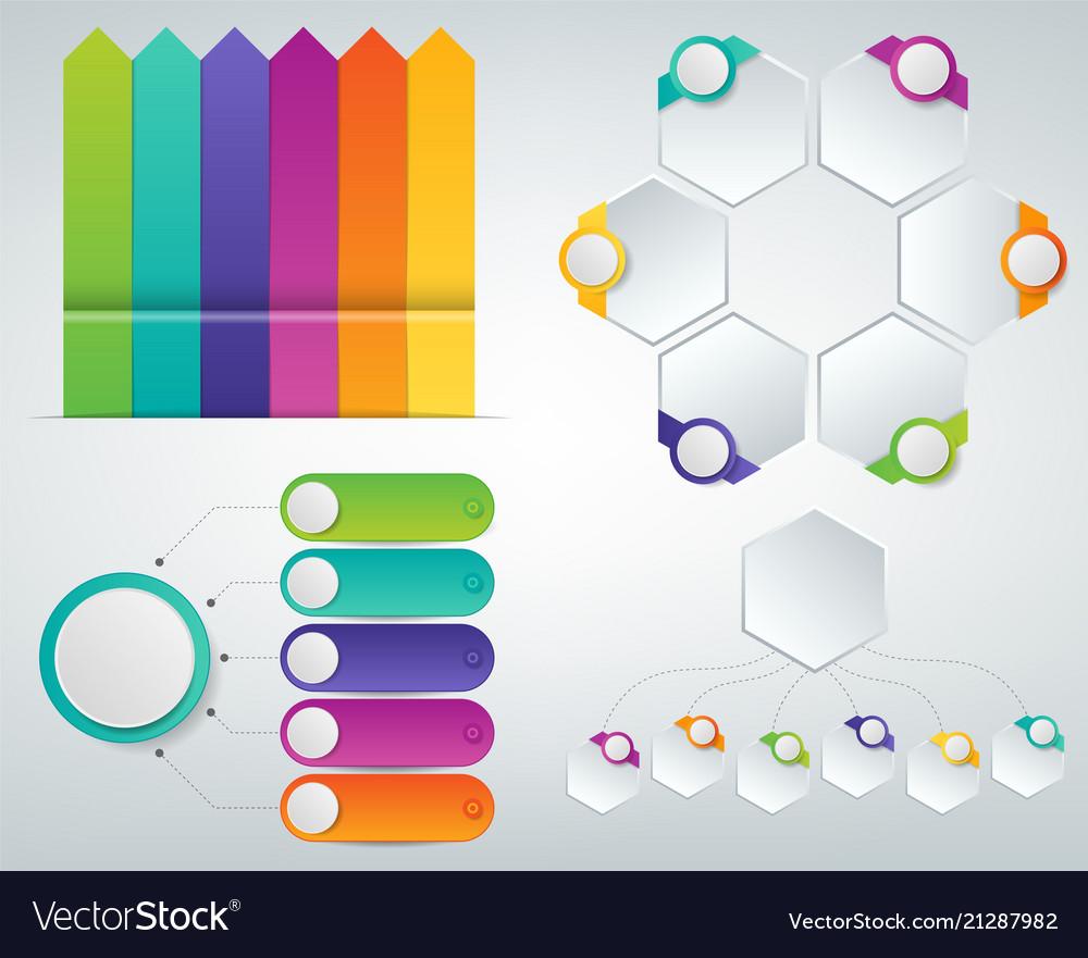 3d infographics templates set business