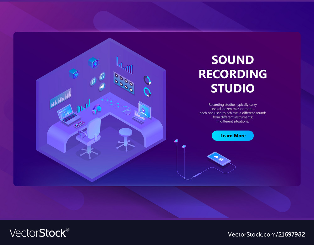 3d isometric site for sound recording