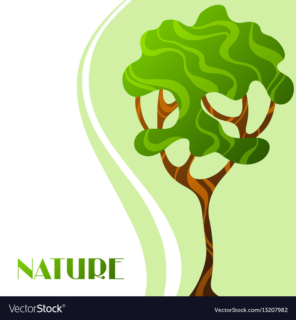 Background with abstract stylized tree natural