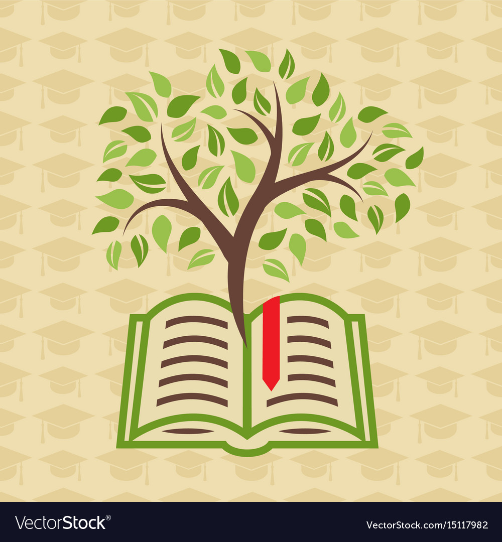 Education concept with book and tree