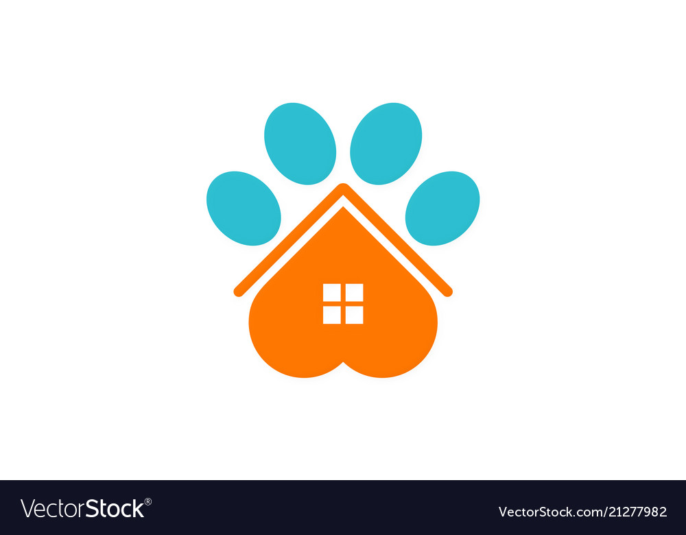 House pet dog logo