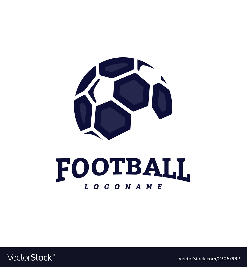 Soccer Football Badge Logo Design Templates Sport Vector Image