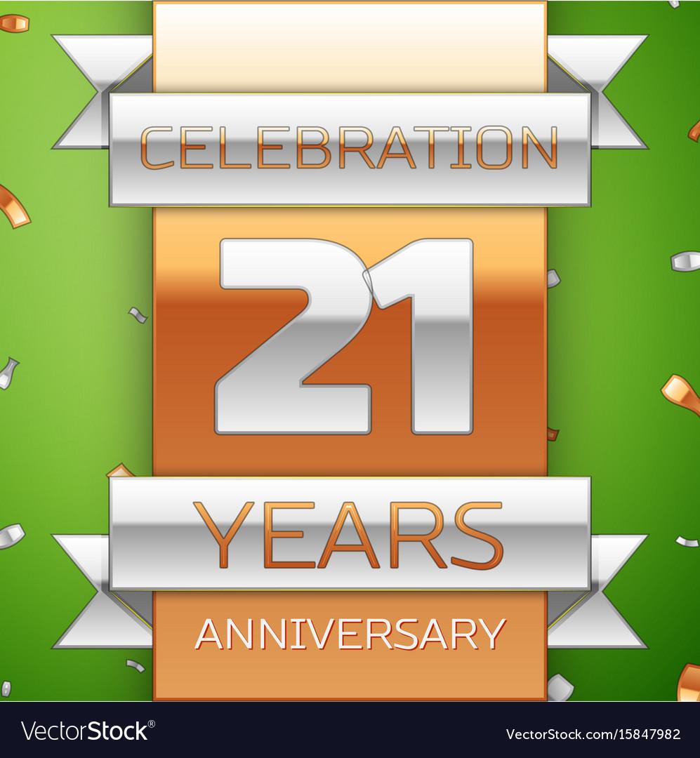 Twenty one years anniversary celebration design