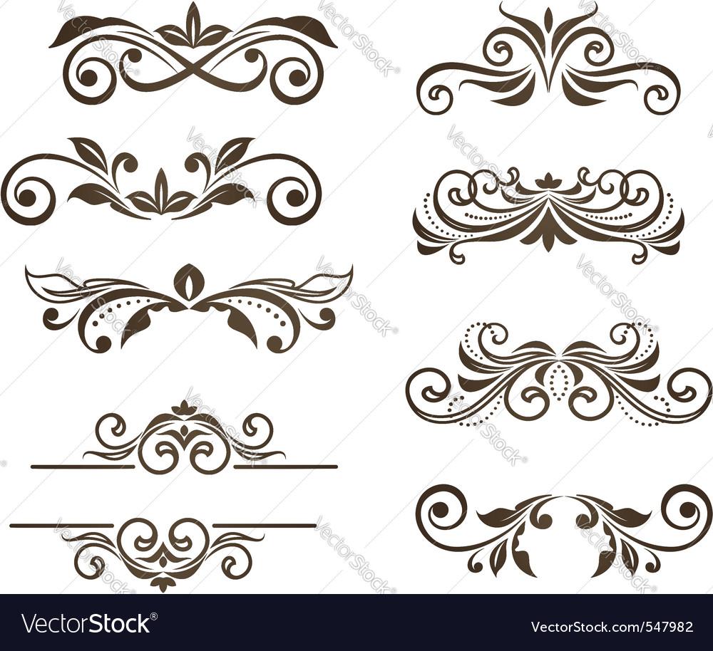 Vintage floral motifs vector image