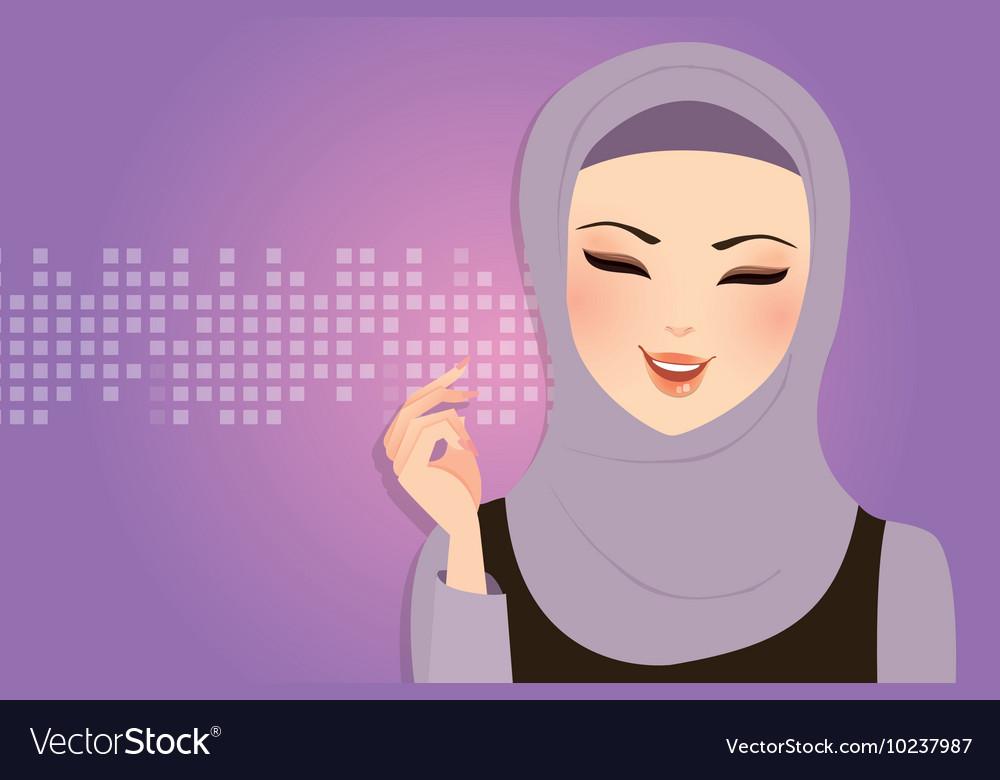 Beautiful girl wearing scarf hijab veil smile