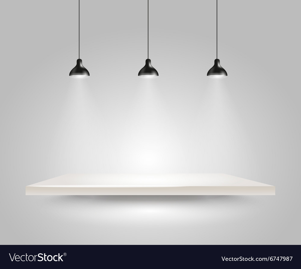 Bright stage with the lamps vector image