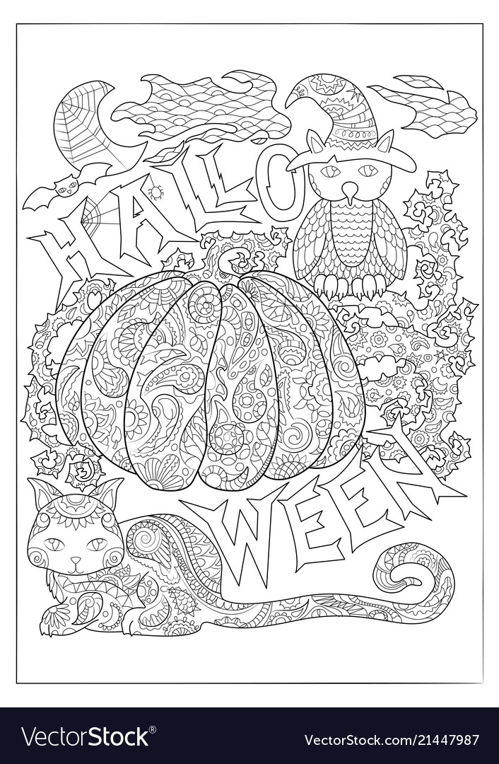 An owl from Patterns Coloring Book Vol. 3 | Owl coloring pages ... | 1080x706