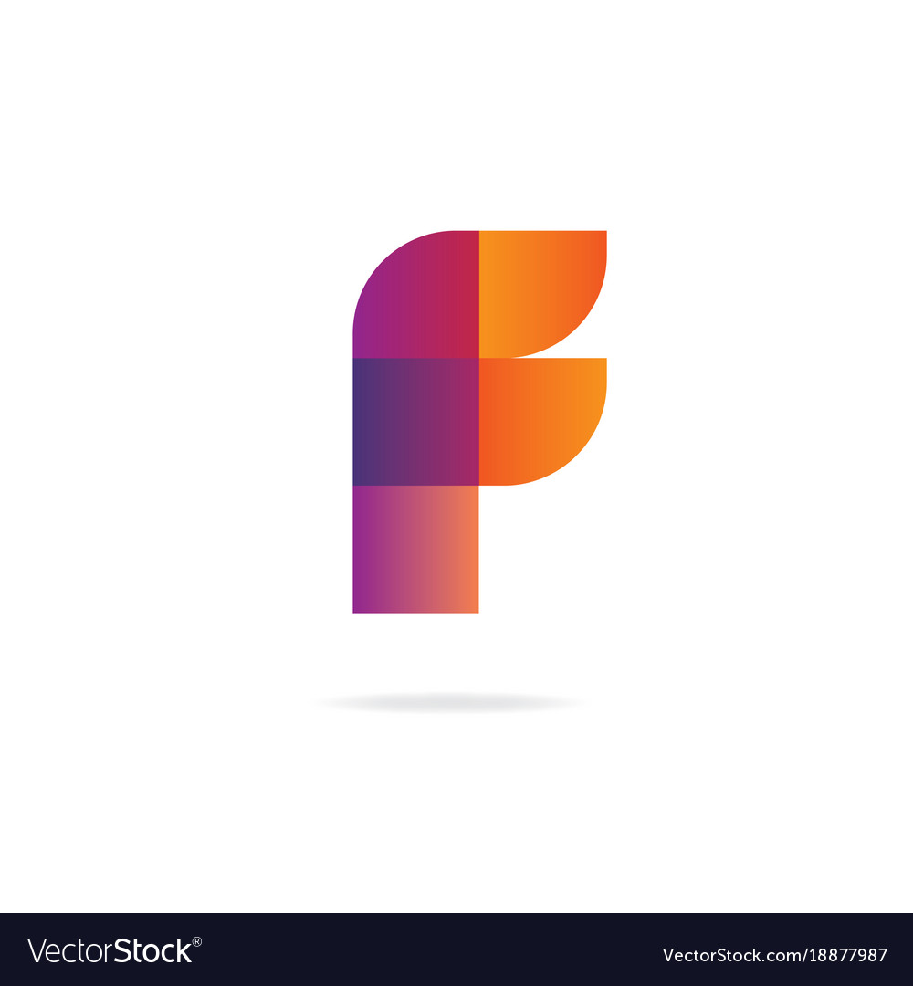 Letter f logo design template elements vector image