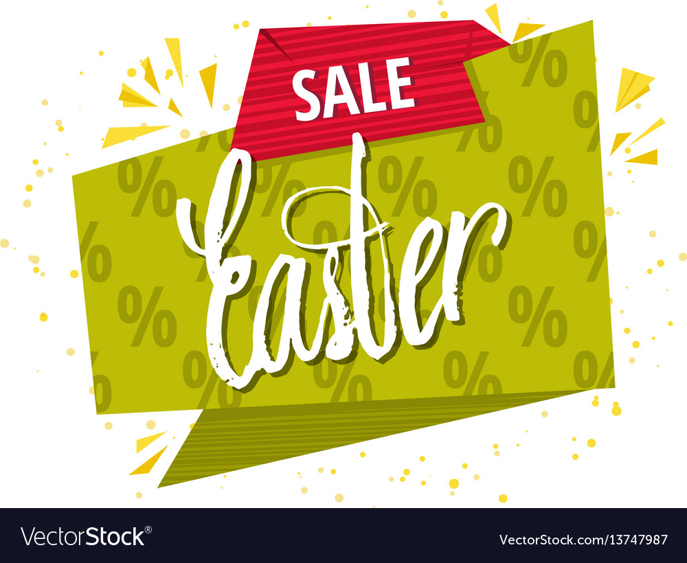 Quote sale easter day background design the