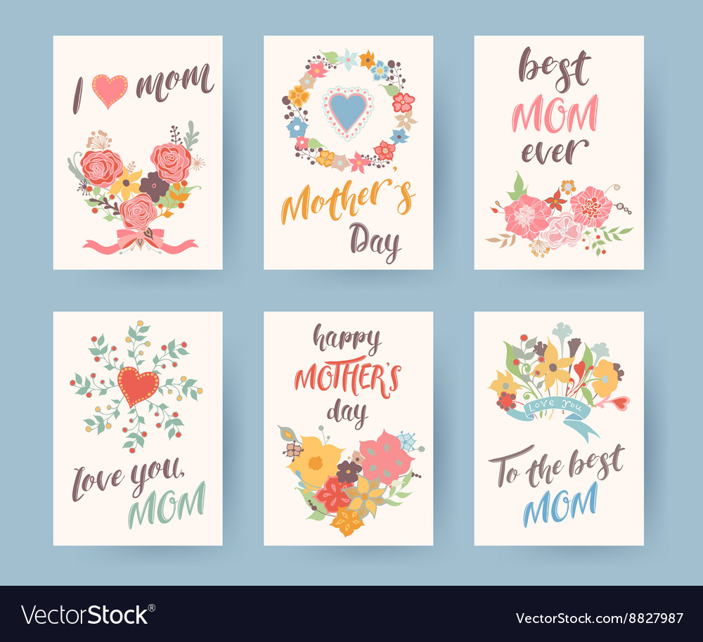 Set of vintage mothers day greeting card Mothers