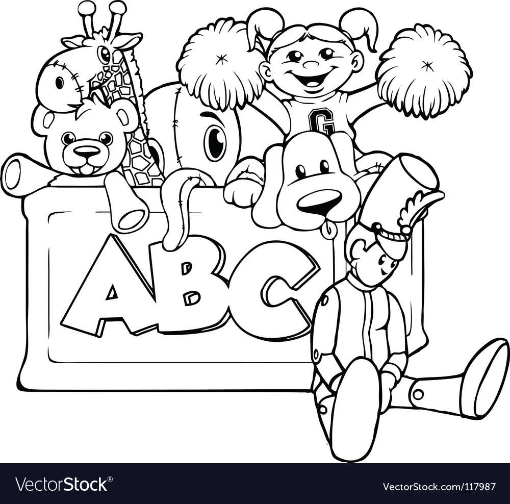 Toy box vector image
