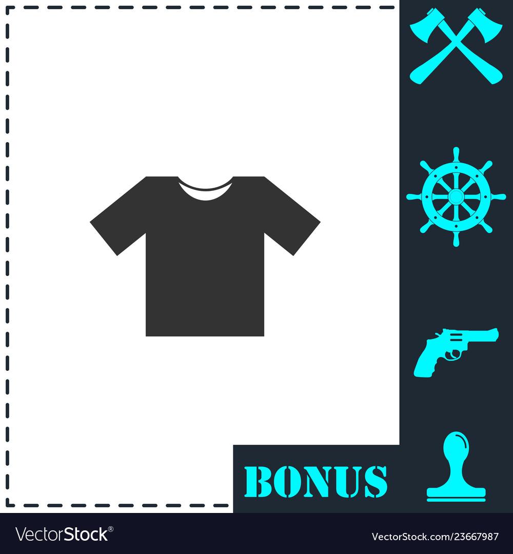 Tshirt icon flat