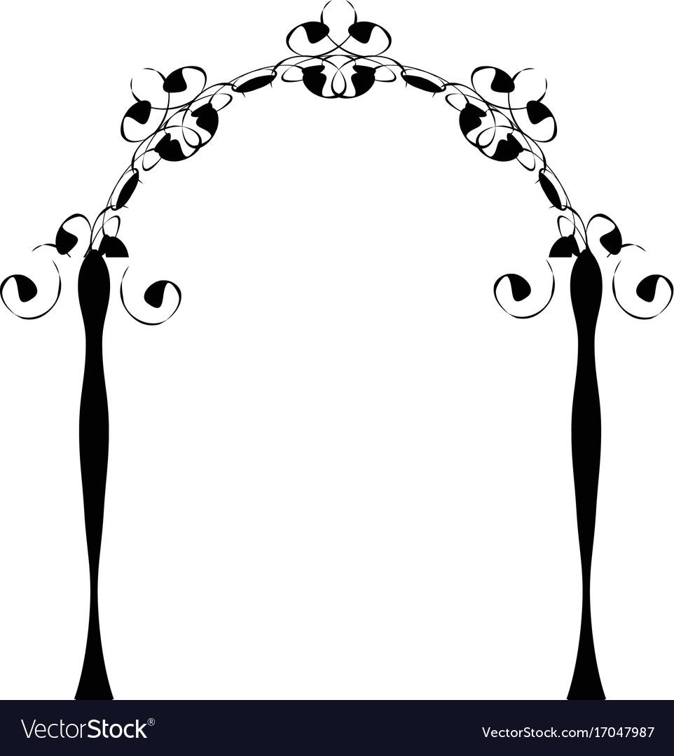 Vintage chuppah arch jewish wedding canopy vector image