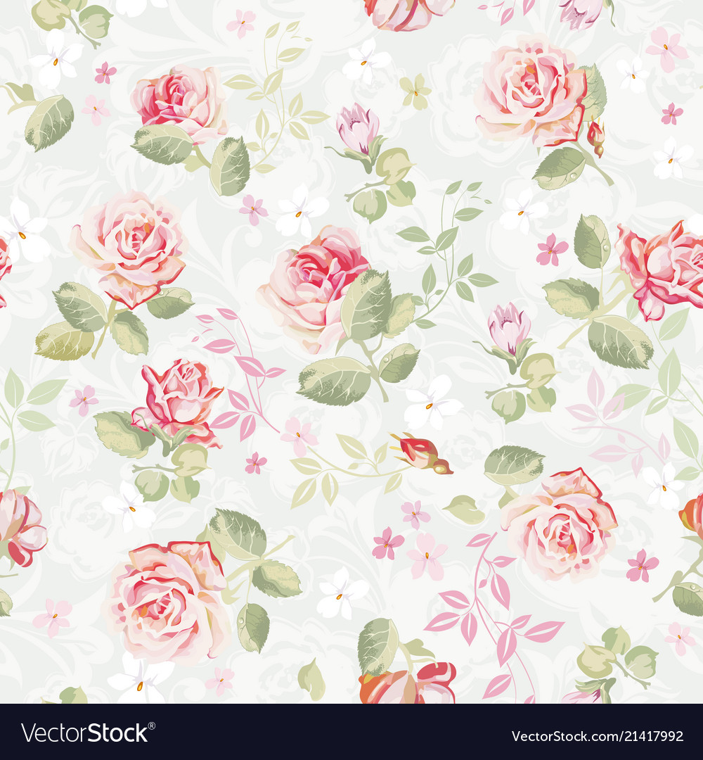 Abstract elegance seamless floral pattern