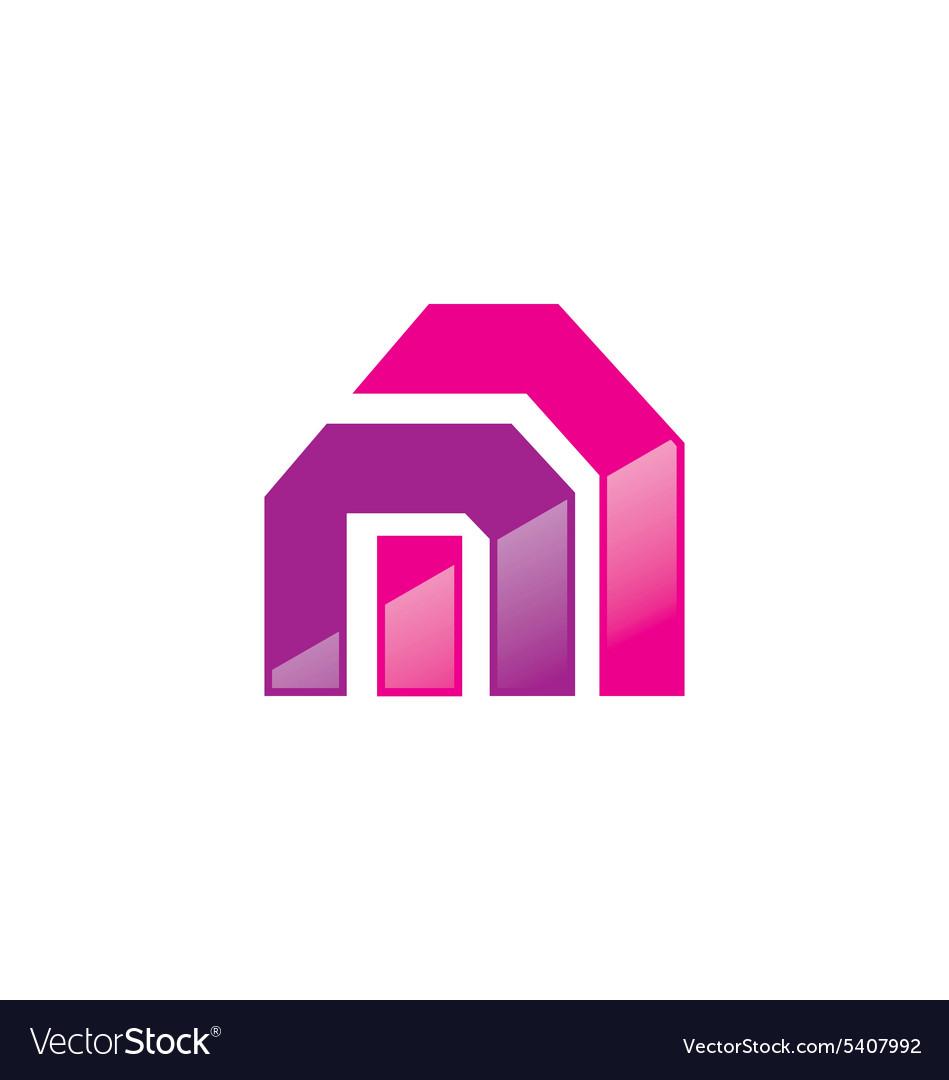 Abstract shape construction logo