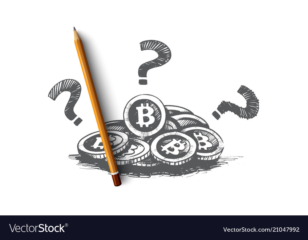 Bitcoin concept hand drawn isolated