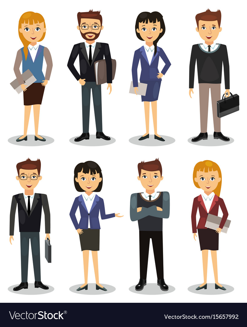 Business people group of office workers vector image