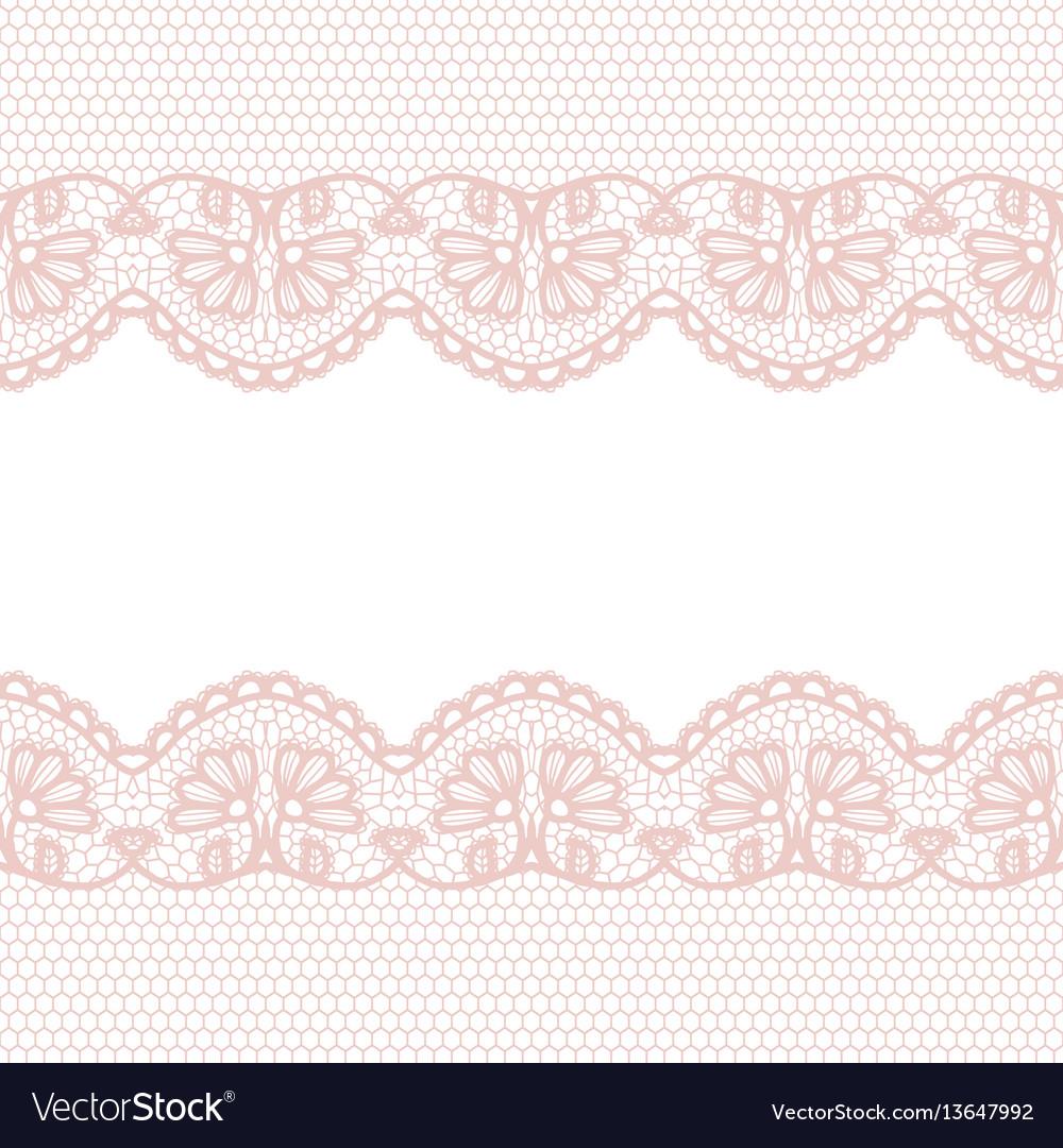 Lace Border Invitation Card