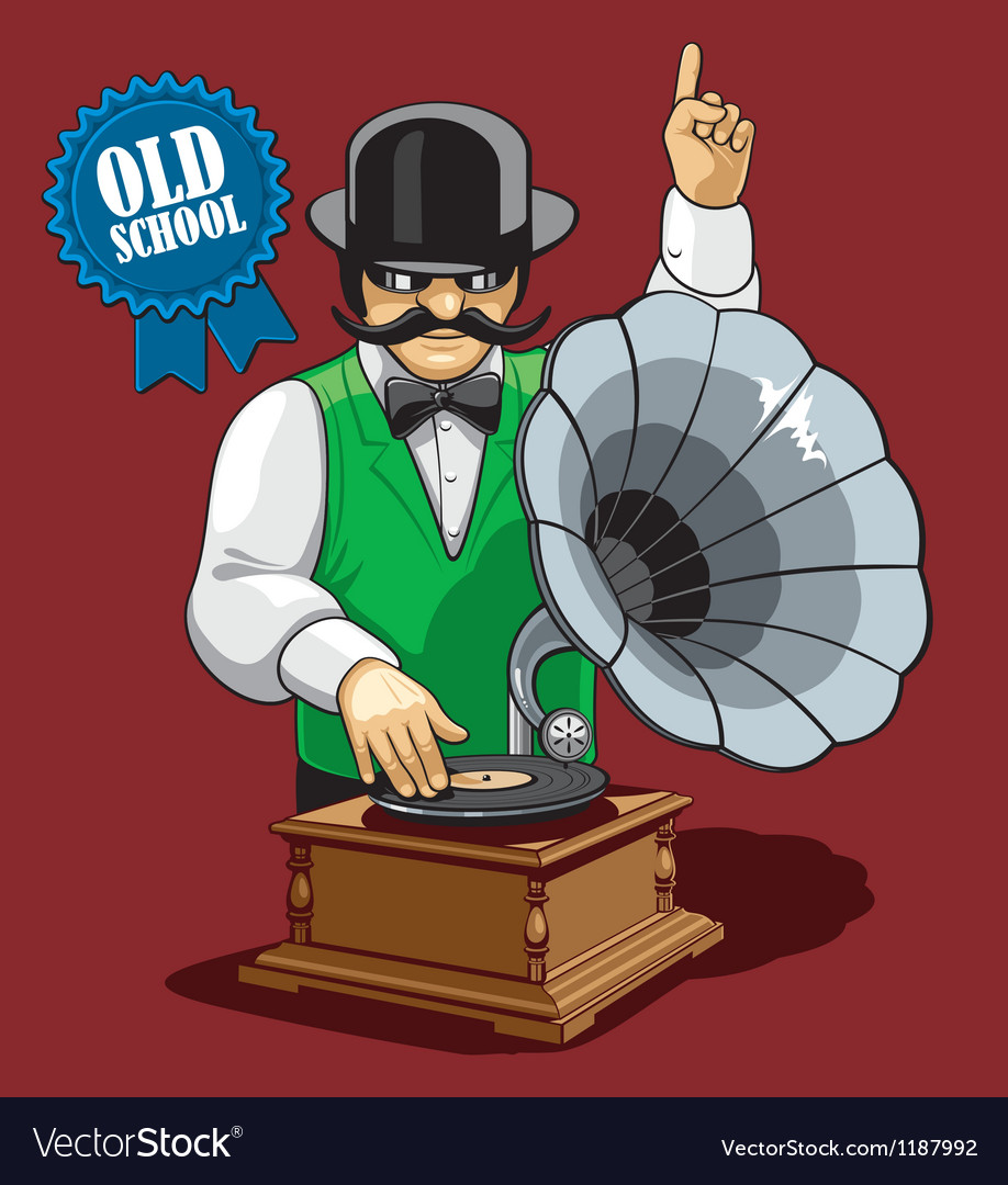 Old school music vector image