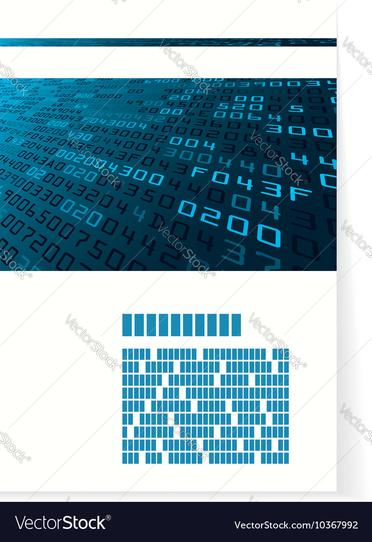 Pattern for brochure or cover with hex code