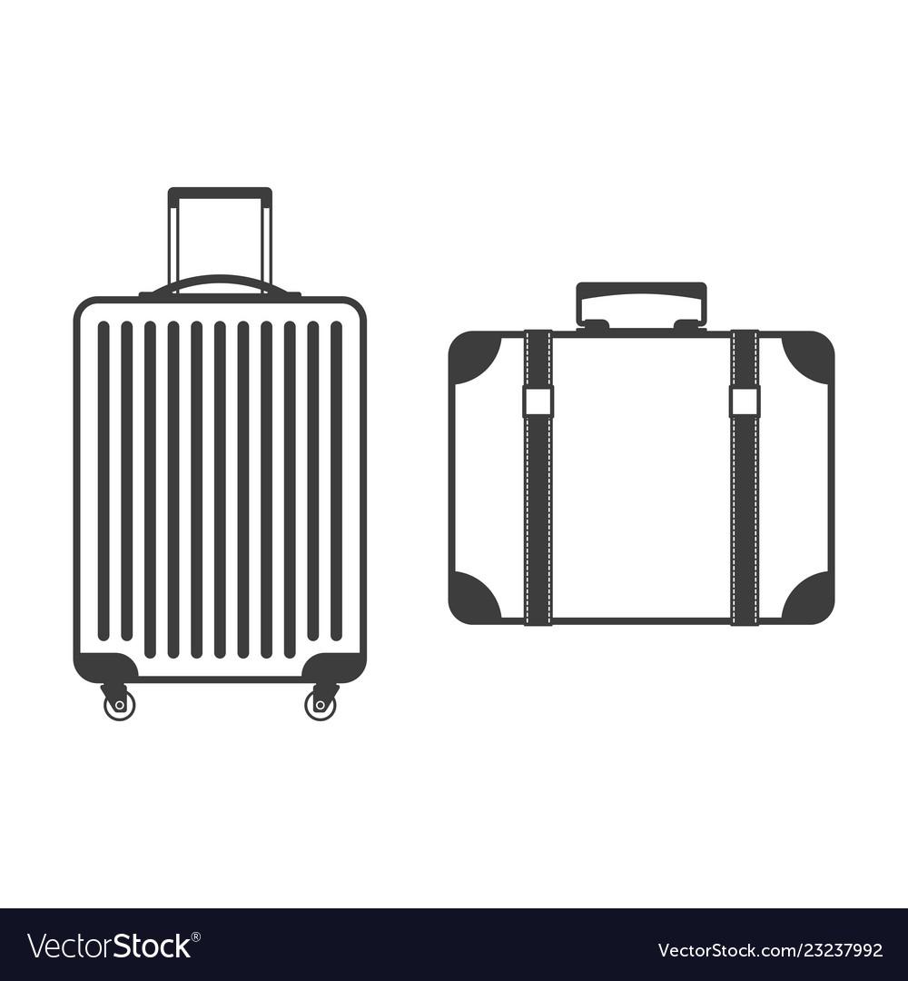 Suitcase icon set