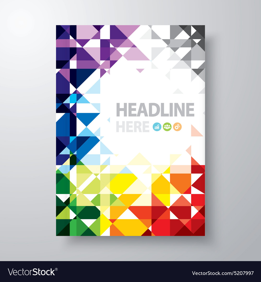 Book Cover Graphics Free : Abstract book cover royalty free vector image vectorstock