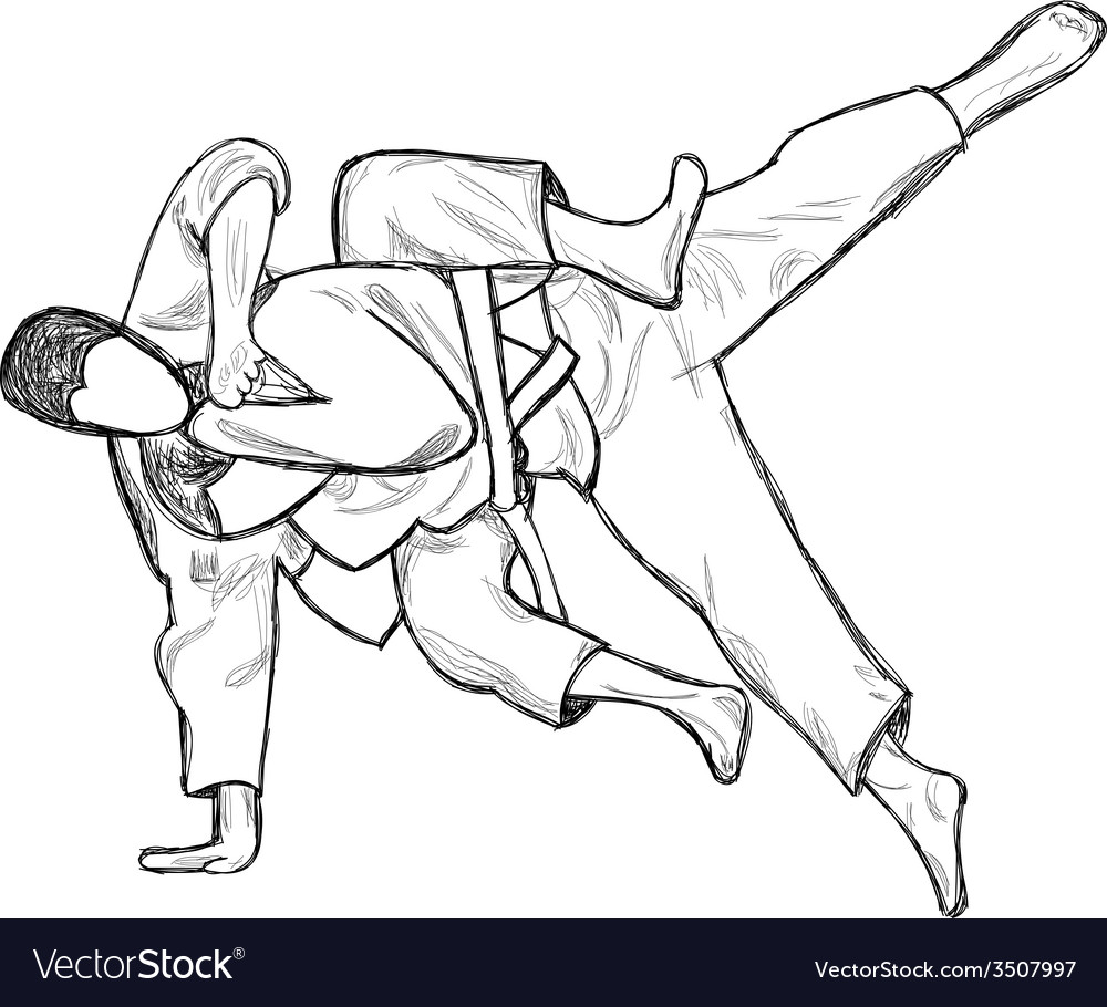 An hand drawn from series Martial Arts JUDO