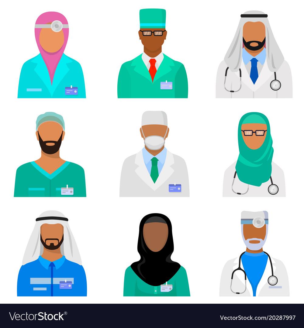 Arab medical staff set