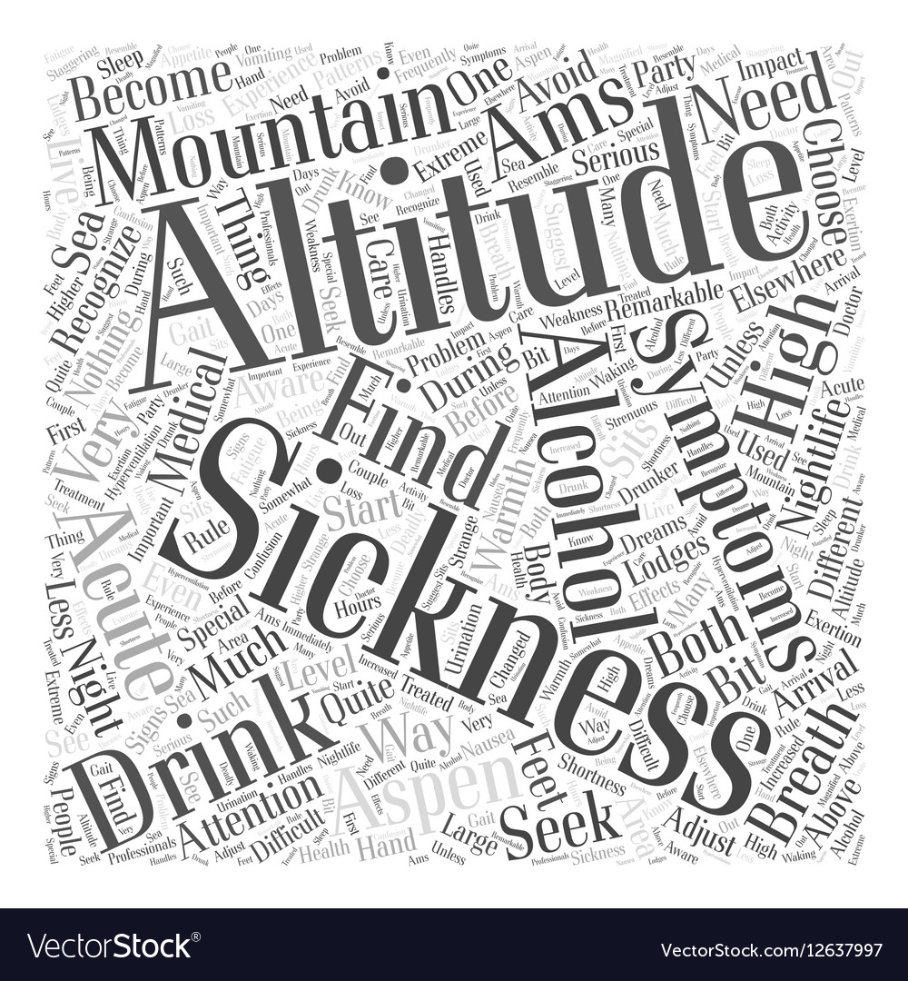 Aspen nightlife and the altitude Word Cloud