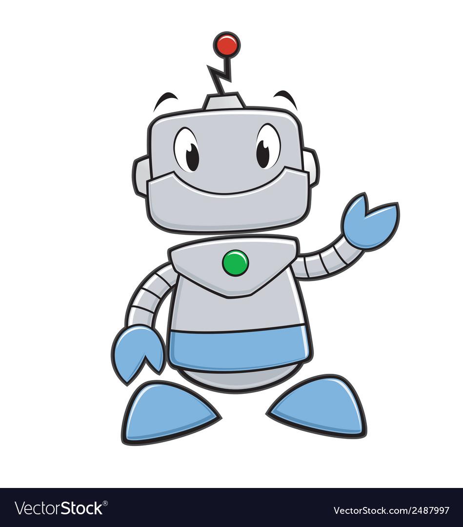 cartoon robot royalty free vector image vectorstock rh vectorstock com robot vector free robot victor piscine