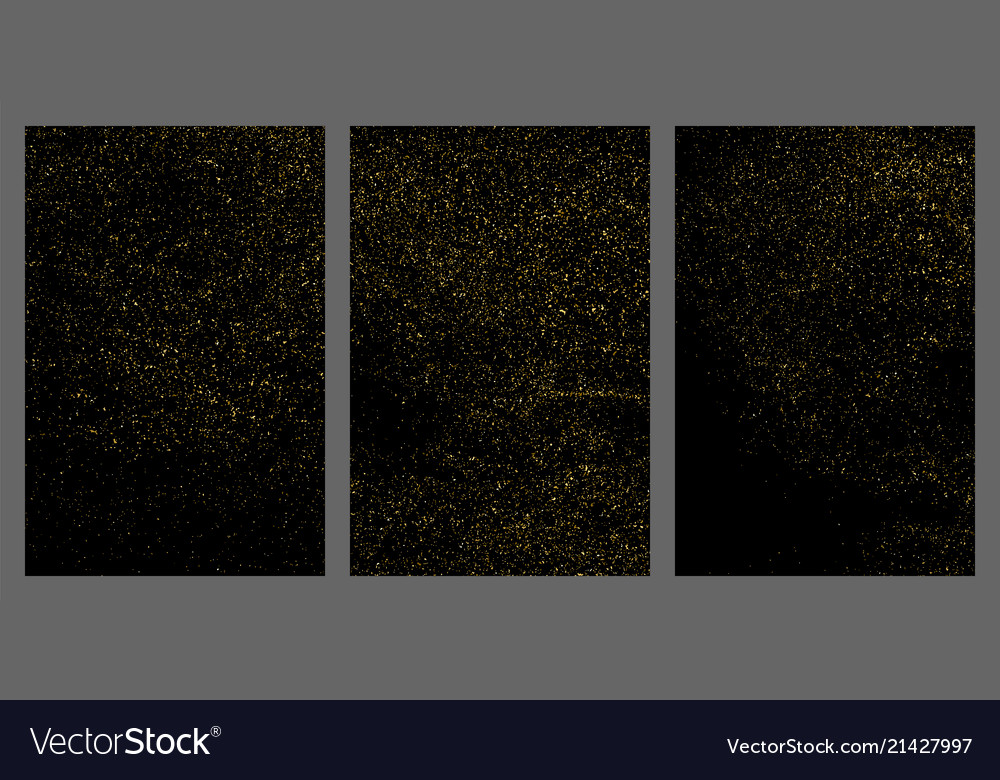 Gold glitter texture isolated on black