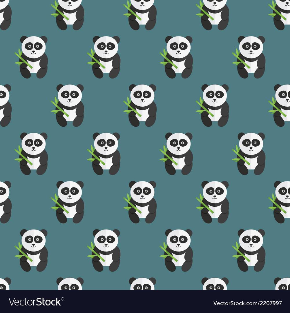 Seamless panda bear pattern