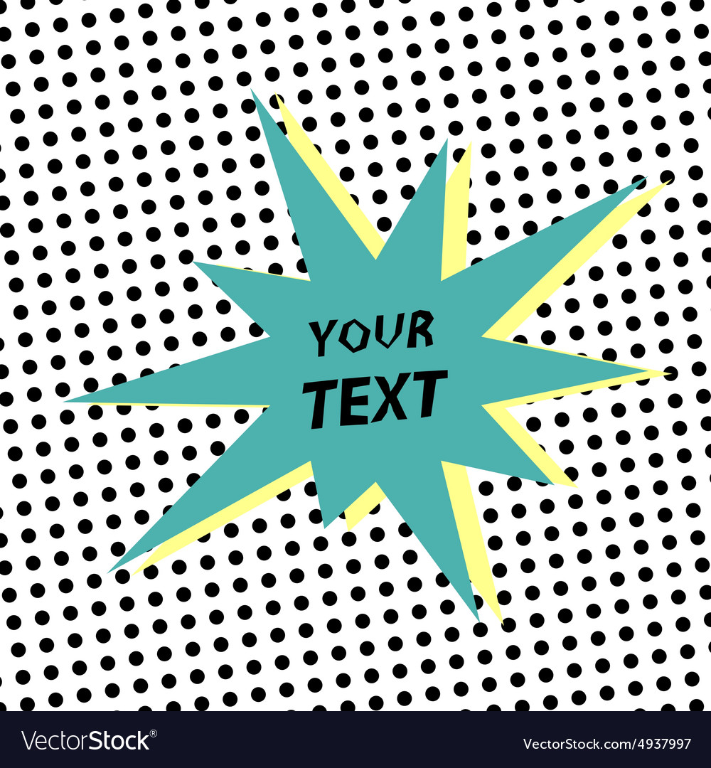 Template in retro background vector image