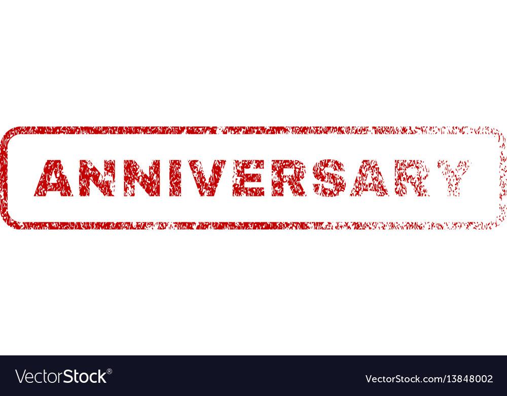 Anniversary rubber stamp
