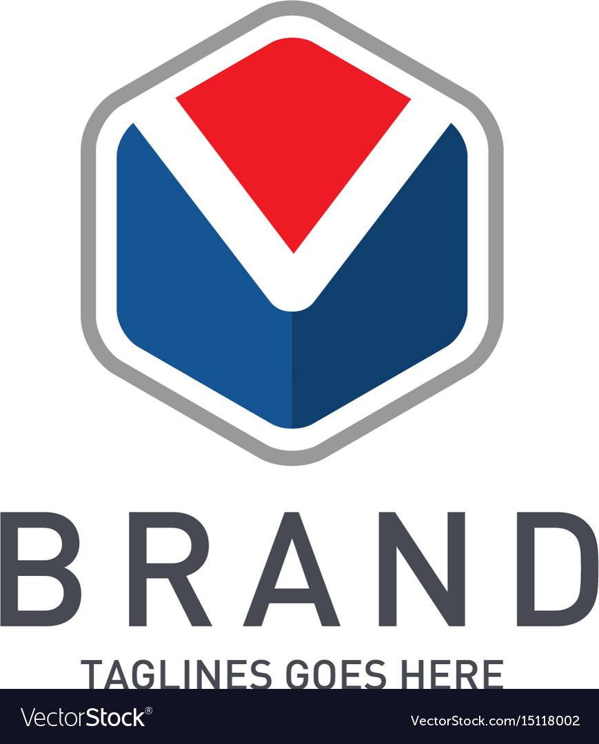 Best letter m logo octagonal concept