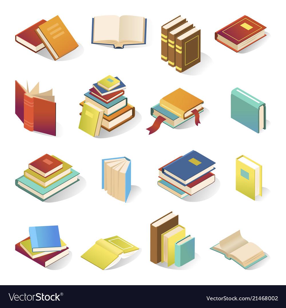 Book icon isometric set