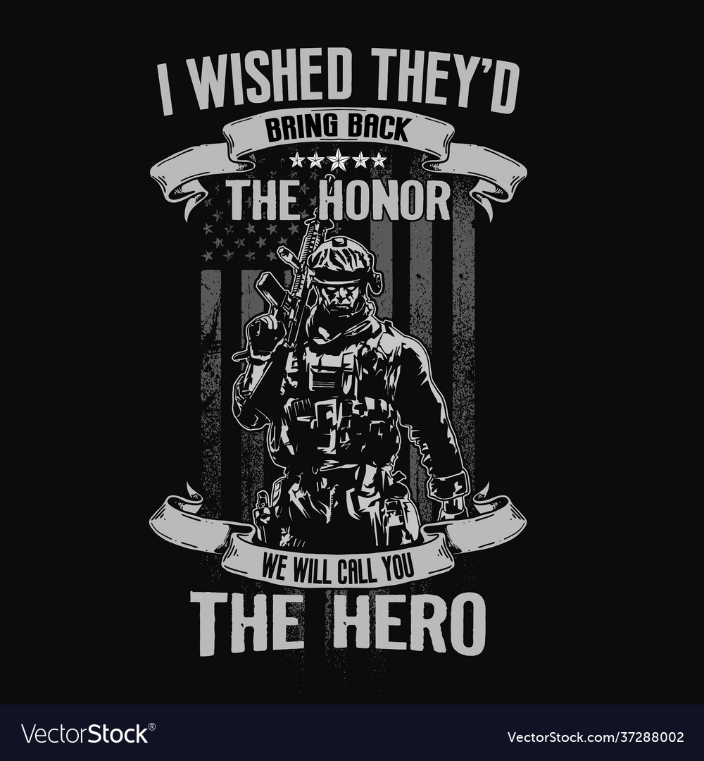 Brave soldier with honor