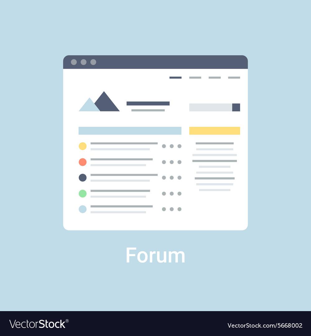 Forum Wireframe