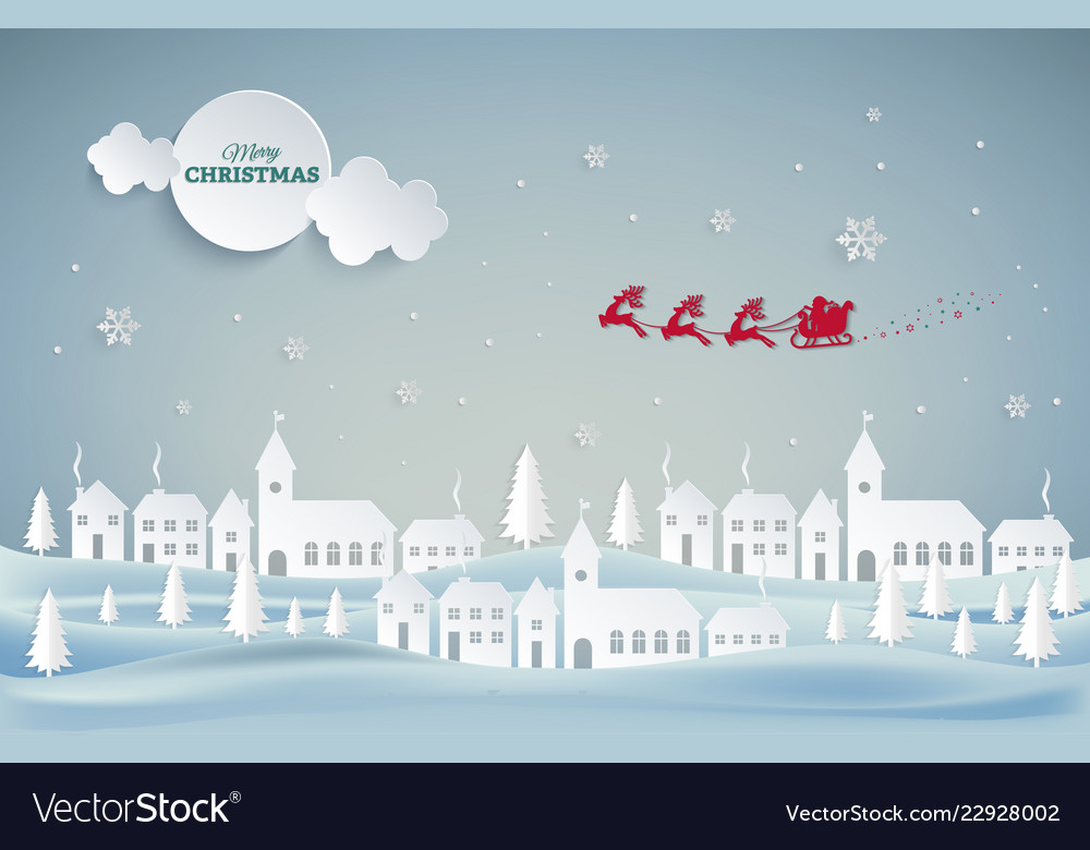 Merry christmas and happy new year santa claus