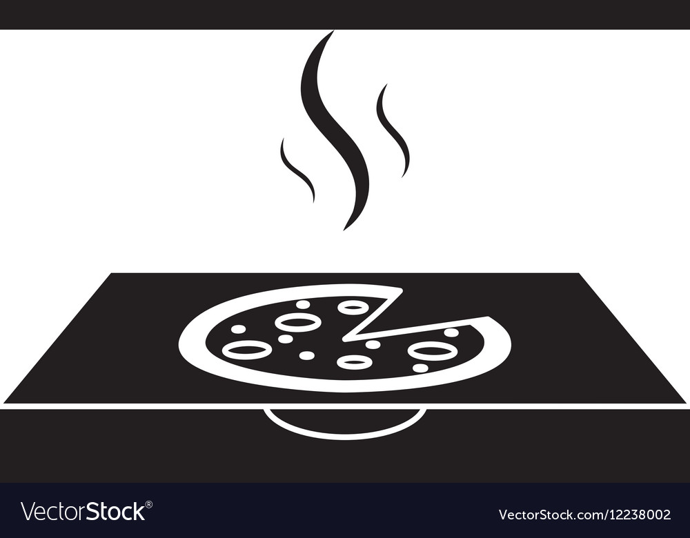 Pizza delivery box pictogram vector image